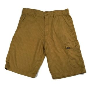 Vans Windowpane Cargo Shorts in Tan